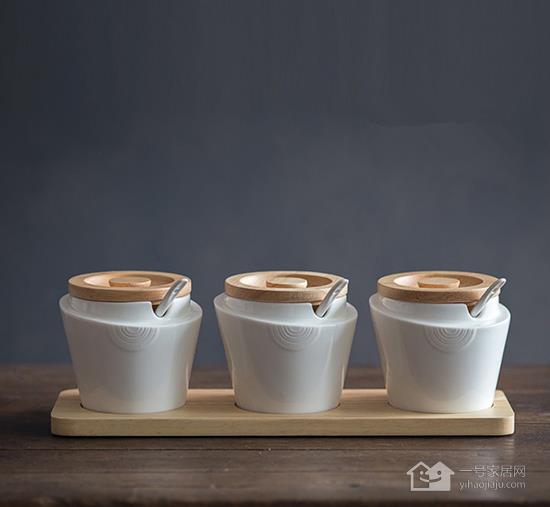 萌萌哒 超可爱的厨房调味罐