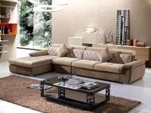 布艺沙发客厅组合L型转角简约现代布沙发