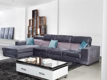 时尚客厅转角布沙发组合