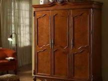 实木简约中式衣柜  二三四门木质衣柜