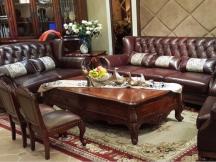 威灵顿复古皮艺沙发