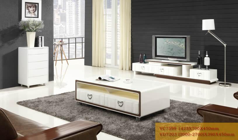 新红阳家具 城市风景宜木系列大理石茶几电视柜VC7599 VD7203