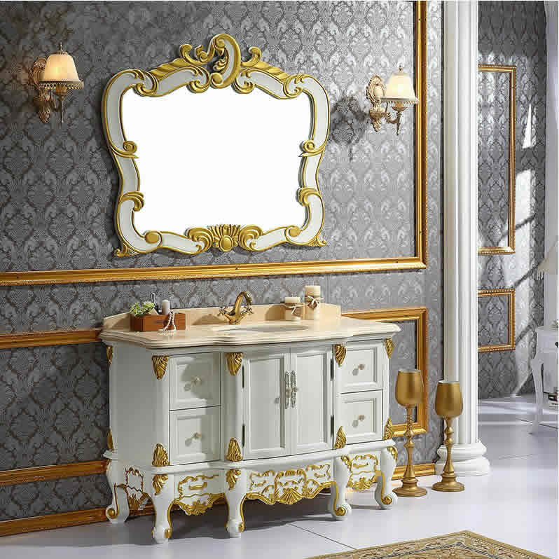 科勒欧式浴室柜组合橡木落地仿古卫浴柜