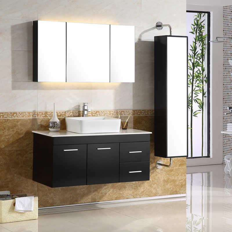 橡木卫浴浴室柜吊柜组合挂墙式镜柜实木洗脸盆浴柜现代简约旋转柜