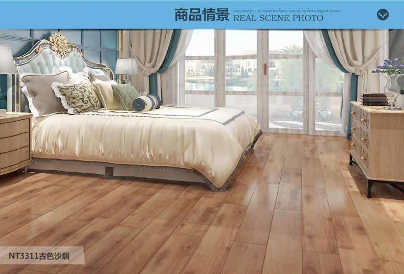 圣象地板 F4星环保双拼橡木系列质感浮雕适用地暖强化复合木地板