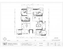 天悦尚城3#01户型装修设计案例