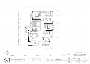 天悦尚城3#3户型装修设计案例